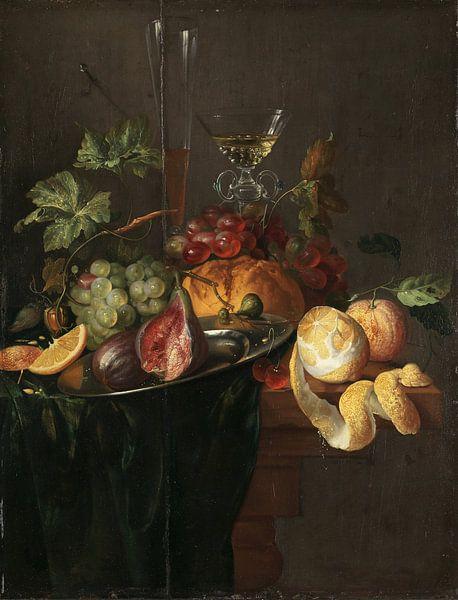 Fruit and wine, Jan Davidsz. de Heem von Meesterlijcke Meesters