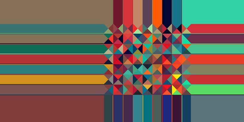 Driehoekig patroon 04 van Marion Tenbergen