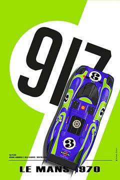 917 Gerard Larrousse, Willi Kauhsen Le Mans 1970, Vert