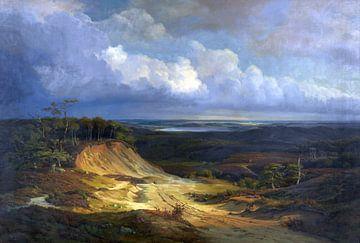 Heidelandschaft in Jütland, LOUIS GURLITT, 1841 von Atelier Liesjes