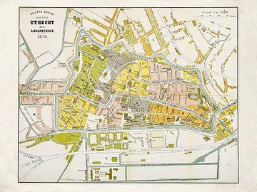 Karte Utrecht - 1879