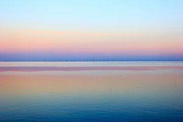 Zonsondergang op het wad von Olaf Douma