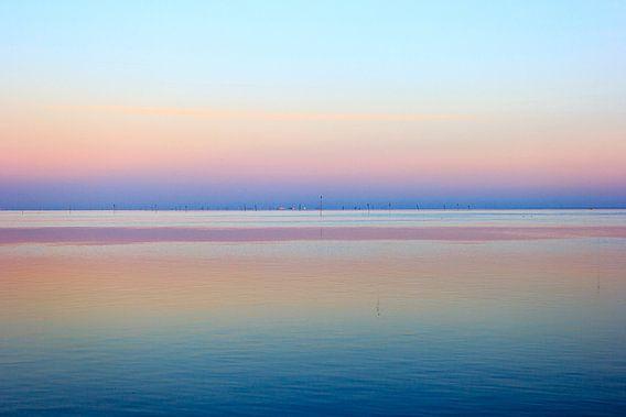 Zonsondergang op het wad van Olaf Douma