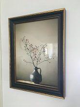 Kundenfoto: Blaue Vase mit Beeren von Karin Bazuin, als poster