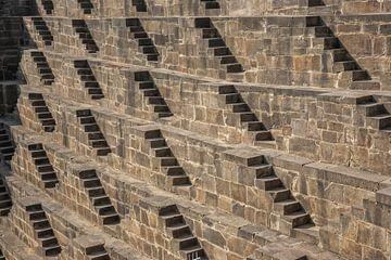Detail des alten Stiefschritts in Indien in Chand Baori von Tjeerd Kruse