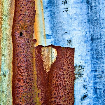 Primal ground - study in brown and blue sur Hans Kwaspen