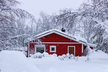 Schwedisches Haus, Lappland von Lucas Planting