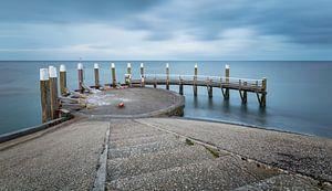 Ingang haven  Oude Schild Texel van