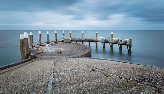Ingang haven  Oude Schild Texel van Martijn van Dellen