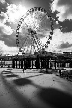 Scheveningen Riesenrad s/w von Remco-Daniël Gielen Photography