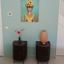 Klantfoto: Citroen vrouw van Britta Glodde, op canvas