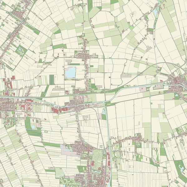 Kaart vanMenterwolde van Rebel Ontwerp