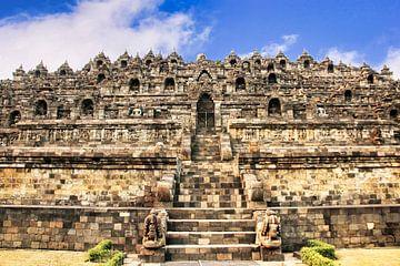 Achterzijde Borobudur van Eduard Lamping