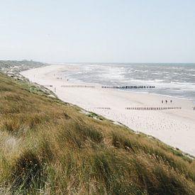 Typisch aanzicht van de kust aan de Noordzee van mitevisuals