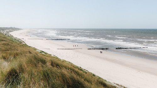 Typisch aanzicht van de kust aan de Noordzee