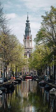 Zuiderkerk aus dem Groenburgwal in Amsterdam. von Lorena Cirstea