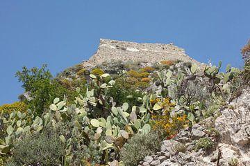 Castello Saraceno op Monte Tauro, Saraceense kasteel boven Taormina, Taormina, provincie Messina, Si van Torsten Krüger