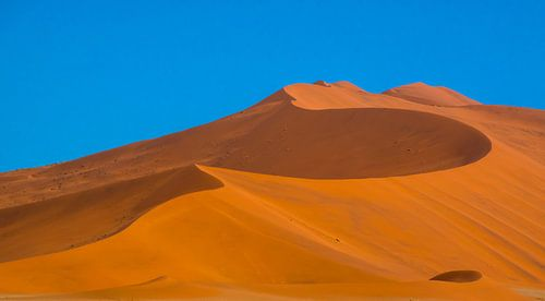 Prachtige lijnen in de rode duinen van de Sossusvlei, Namibie van Rietje Bulthuis