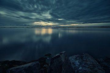 Avondschemering over het Heegermeer (2) von Remco de Vries