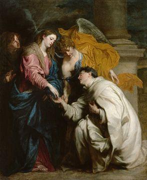 La vision du bienheureux Hermann Joseph, Anthony van Dyck sur