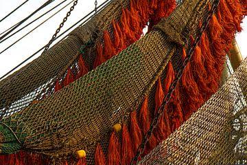 Netten van een vissersboot, Texel van Anne Ponsen