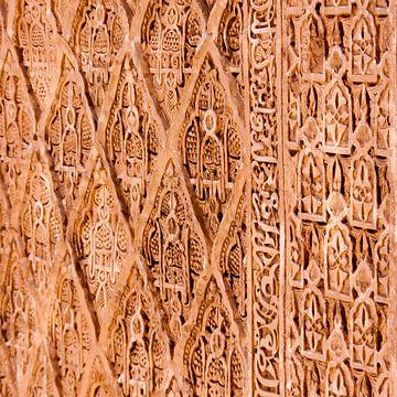Muurversiering (Marokko) van Rob van der Pijll