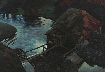 Ferdynand Ruszczyc~Mühle bei Nacht