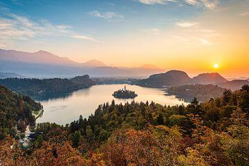 Le lac Bled en Slovénie sur Michael Valjak