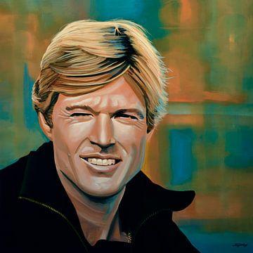 Peinture de Robert Redford sur Paul Meijering