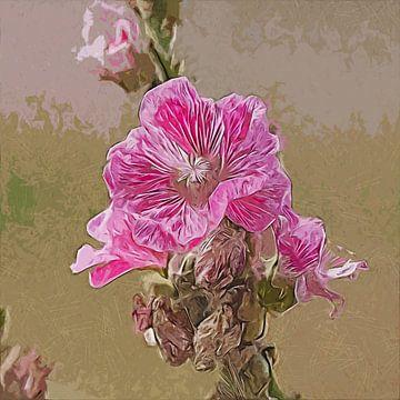 Jolie en rose (fleur) sur Art by Jeronimo