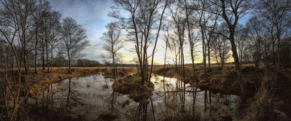 Sunset in Drenthe van Eppo Karsijns