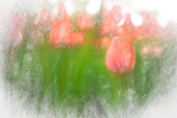 Tulpen in Sint Petersburg van Rene van Heerdt