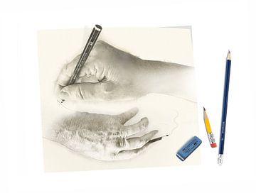 handen tekenen handen sur Dray van Beeck