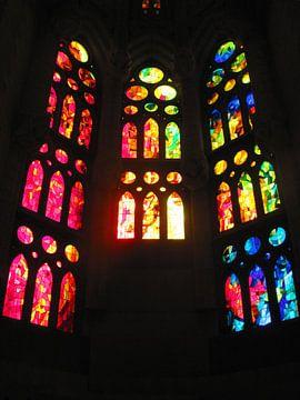 Glas-in-loodraam Sagrada Familia van Arty Crafty