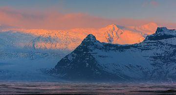 Sonnenaufgang Vatnajökull-Nationalpark, Island von Henk Meijer Photography