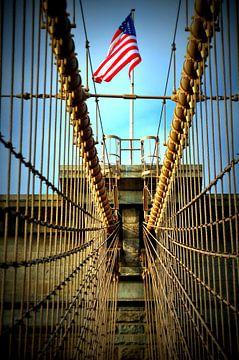 Detail Brooklyn Bridge von Bianca Dekkers-van Uden