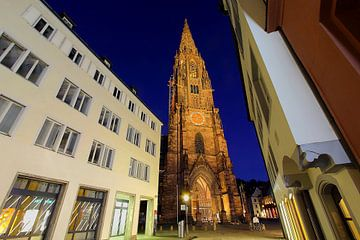 Münsterplatz Freiburg Abendstimmung von Patrick Lohmüller