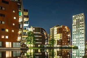 paleiskwartier in Den Bosch in de avond van