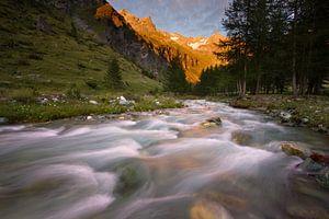 Alpen-Glow in de Franse Alpen