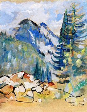 Berglandschaft I, OSKAR MOLL, Um 1920 von Atelier Liesjes