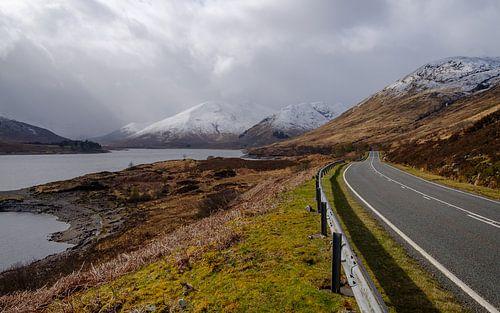 De weg naar de bergen