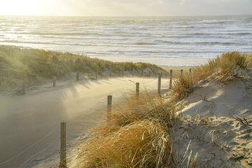Strand, Meer und Sonne an einem stürmischen Abend! von Dirk van Egmond