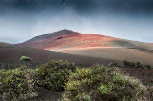 Desolaat vulkaanlandschap van