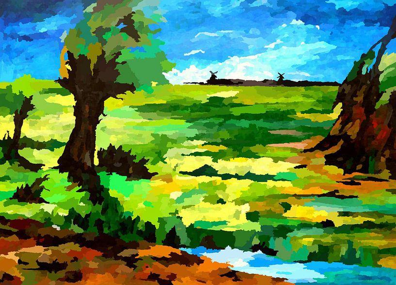 Ostfriesische Landschaft von Eberhard Schmidt-Dranske