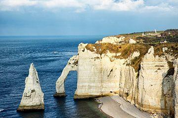 L'aiguille bij Étretat (Normandië, Frankrijk)