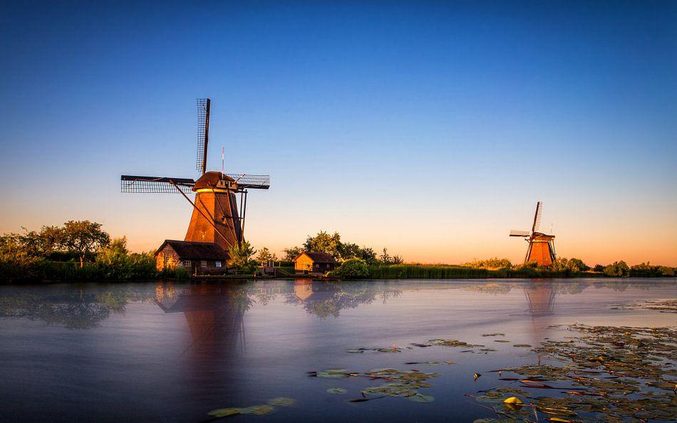 Kinderdijk Gouden Uur 2 van Joram Janssen
