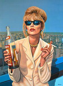Joanna Lumley als Patsy Stone Schilderij