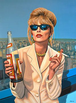 Joanna Lumley als Patsy Stone Schilderij von Paul Meijering
