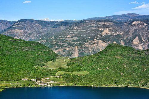 Lake Caldaro and the Dolomites