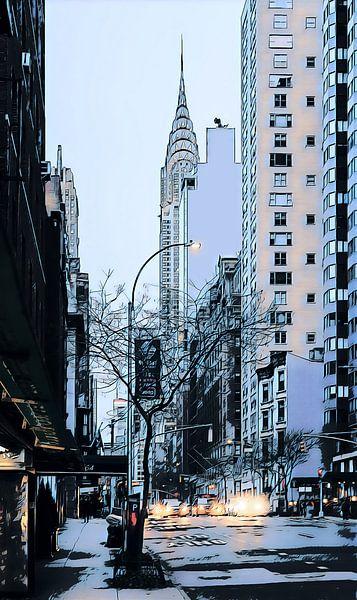 New York: Chrysler Gebäude von Dutch Digi Artist